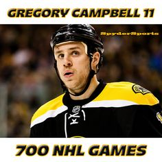 Gregory Campbell Reaches 700 NHL Games | Spyder Sports Lounge