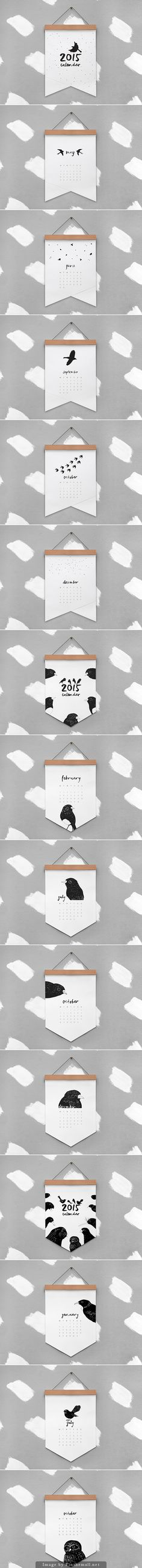 2015 #calendar by melissa boardman with cute bird illustrations                                                                                                                                                                                 More