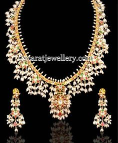 Jewellery Designs: Gota Pusalu Set by Kundan Meena Jewels