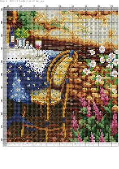 Cross Stitch Landscape, Small Cross Stitch, Cross Stitching, Cross Stitch Patterns, Scenery, Embroidery, Blue Home, Cross Stitch, Frames