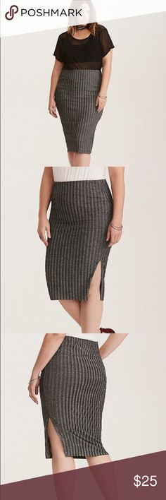 bb68b128265 Torrid Glitter Ribbed Pencil Skirt 3 3X Stretch Torrid size 3 (3x) New  without
