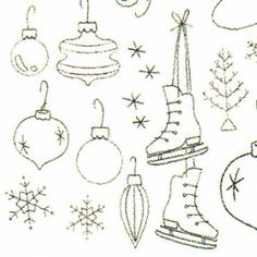 Christmas embroidery Types Of Embroidery, Cross Stitch Embroidery, Embroidery Patterns, Hand Embroidery, Xmas Pics, Xmas Pictures, Christmas Table Cloth, 3d Craft, Christmas Embroidery