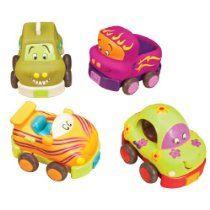 Wheels : Wheeeeeeeeeeeeeeee Pull back these cute cars from B and watch them go. Pack includes 4 chunky vehicles perfect for little hands Car rings truck chimes racer rattles taxi squeaks No batteries necessary Toddler Toys, Baby Toys, Kids Toys, Toddler Stuff, Kid Stuff, Zany Zoo, Sports Games For Kids, Activity Cube, Activity Toys