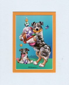 Mini-Print-Australian-Shepherd-Dog-by-Mike-McCartney