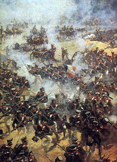 Bloody battle of Borodino / Moskova French History, European History, Art History, Military Art, Military History, Battle Of Borodino, Etat Major, Age Of Empires, French Army