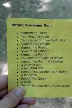 nature scavenger hunt!