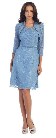 Formal Mother of the Bride Groom Plus Size Short Lace Dress with Jacket - The Dress Outlet - 1 Modest Dresses, Prom Dresses, Beach Dresses, Mother Of Groom Outfits, Mother Of The Bride Plus Size, Mother Bride, Dresser, Clothing For Tall Women, Elegant Clothing