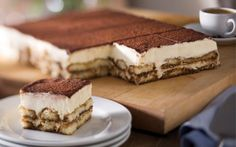 Tiramisu (Serves could serve 24 if you cut the pieces in half looks like the perfect grooms cake :D I love Olive garden! Dessert Platter, Dessert Buffet, Tiramisu, Italian Desserts, Mini Desserts, Cake Recipes, Dessert Recipes, Love Eat, Food Cakes