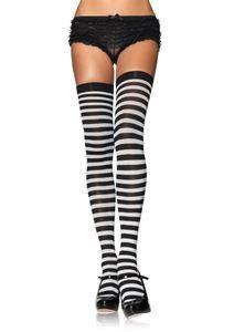 Nylon Striped Plus Size Stockings - 322384 | trendyhalloween.com
