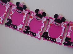 Magenta Minnie 12 Month Photo Banner Magenta by SweetPickledPosies, $48.50