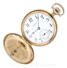 Ladies' Art Nouveau Hunter Case Elgin Pocket Watch - 70-1-342 - Lang Antiques