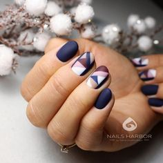 Winter nails design Ideas - Page 2 of 34 - Soflyme Long Gel Nails, Short Nails, Matte Nails, Acrylic Nails, Nailed It, Winter Nail Designs, Beautiful Nail Designs, Winter Nails, Coffin Nails
