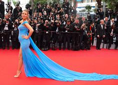 Blake Lively Crushed Cannes as the Best-Dressed Pregnant Lady Ever via @PureWow