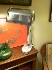 Antiques Atlas - Art Deco Desk Lamp In Chrome Material: chrome Condition: Good Origin: French Circa 1930