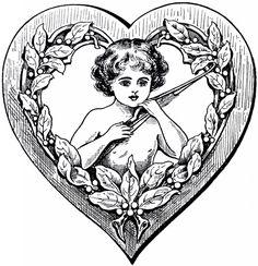 Cupid Heart Clip Art - The Graphics Fairy