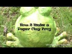 How to Make a Cute Frog with Paper Clay
