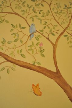 Tree Mural for Children's Bedroom Los Angeles mural idea as seen on www.boysandgirlsmurals.com