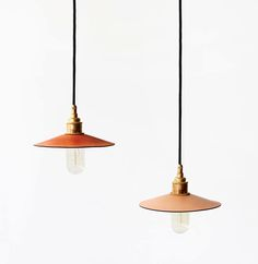 Raw Yet Refined: Hide Leather Lights from Australia: Remodelista