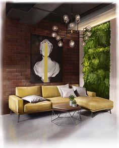 Home Decoration For Ganpati Interior Architecture Drawing, Interior Design Sketches, Ipad Sketch, Living Room Interior, Living Room Decor, Interior Livingroom, Luxury Interior, Interior And Exterior, Decoration For Ganpati