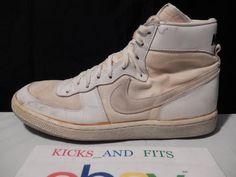 VTG OG 1984 Nike High Top Basketball White Mesh Leather legend blazer jordan 1 #Nike #AthleticSneakers