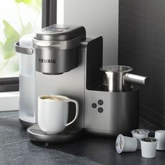 Shop Keurig K-Cafe. Your one-stop-shop for coffeehouse drinks, this new single-serve coffee maker from Keurig effortlessly delivers barista-worthy coffee, lattes and cappuccinos. Coffee And Espresso Maker, Coffee Brewer, Coffee Pods, Drip Coffee Maker, Coffee Beans, Biggby Coffee, Reusable Coffee Filter, Single Serve Coffee, Coffee Truck
