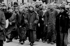 """""""Compassion is not sitting in your room; it's actually very active and engaging,""""  ~ Senior Disciple Thich Nhat Hanh   NYC Peace Walk Thich Nhat Hanh   <3 lis"""