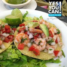 Shrimp Tostadas - A healthy option for your Yes You Can! Diet Plan lunch