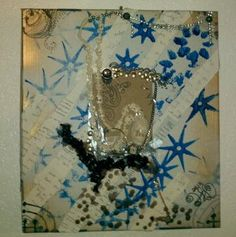 Fine Art  wall art  upcycled jewelry  encaustic  glass  by NWNDllc, $60.00