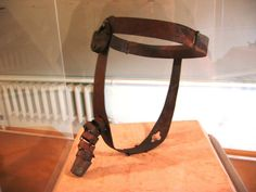 Male chastity belt. Museum of tortures in Peter and Paul Fortress, St. Petersburg, Russia