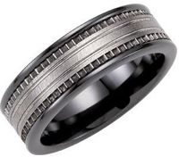 Mens Band Ceramic Couture Band With Tungsten Inlay Tungsten Carbide Wedding Bands, Tungsten Mens Rings, Titanium Rings, Wedding Bands For Him, Wedding Rings, Hard Metal, Couture, Ring Designs, Rings For Men