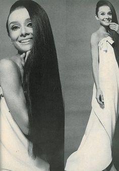 Audrey Hepburn in Givenchy 1966.  LURRRRRRVE HER HAIR!!!!