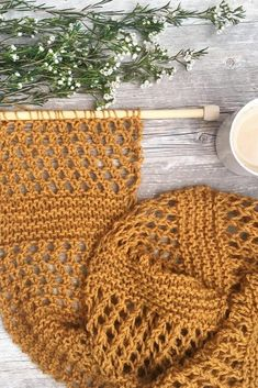 Tackle this easy knitting project during your next family night!