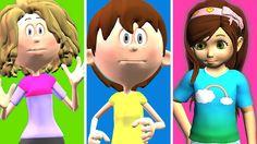 kids Playing Ringa Ringa Roses | Children Cartoon Animation by kids 3d R...