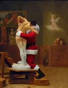 Shop for Ed Wheeler 'Gerome-Pygmalion And Galatea' Canvas Art. Get free delivery On EVERYTHING* Overstock - Your Online Art Gallery Store! Funny Paintings, Original Paintings, Watson And The Shark, Winslow Homer, Caravaggio, Art Series, Christmas Art, Xmas, American Artists