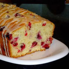 One Perfect Bite: Cranberry and Almond Quick Bread with White Chocolate Glaze