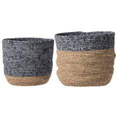 Bloomingville 2 Piece Seagrass Basket Set & Reviews | Wayfair