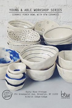 Young and Able Workshop: Ceramic Pinch Bowl Making - Young & Able