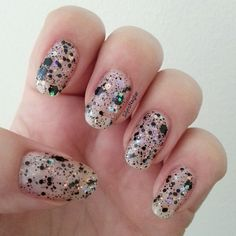 OPI - Comet in the sky on naked nails. The polish is from the Gwen Stefani Holiday collection and I love it so mutch.