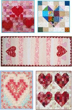 Quilt Inspiration: Free Pattern Day: Hearts and Valentines Part 2.