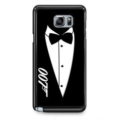 James Bond 007 Black And White Party Invitations Tie TATUM-5780 Samsung Phonecase Cover Samsung Galaxy Note 2 Note 3 Note 4 Note 5 Note Edge