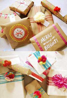 como decorar o envolver regalos 1