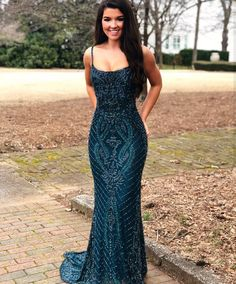 We offer high quality gorgeous square beading lace navy blue mermaid evening dress, custom size and color, no extra cost, enjoy your shopping! African Prom Dresses, Hoco Dresses, Gala Dresses, Event Dresses, Dance Dresses, Pretty Dresses, Homecoming Dresses, Formal Dresses, Wedding Outfits For Women