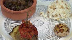 Rezept: Aubergine und Reis dazu verschiedene türkische Beilagen