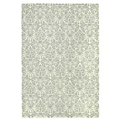 Hand-hooked wool rug with a damask motif.   Product: RugConstruction Material: WoolColor: Beige, yello...