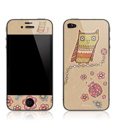 Take a look at this Owl & Ladybug Friends Art Skin for iPhone 4/4S by Peter Horjus Design on #zulily today!