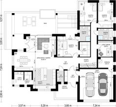 Projekt domu Willa Parterowa 172,05 m² - koszt budowy - EXTRADOM Village House Design, Village Houses, Beautiful House Plans, Beautiful Homes, Modern Bungalow House Design, Villa Rica, Pool House Plans, Model House Plan, My Dream Home