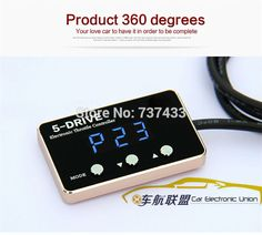Metal golden frame acrylic panel Auto parts Strong booster Car Throttle controller for (Toyota Sienna for Old Picasso) 4 pins