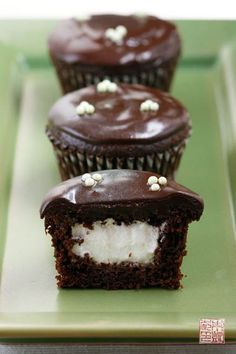 Chocolate Mint Filled Cupcakes by Pastrygirl
