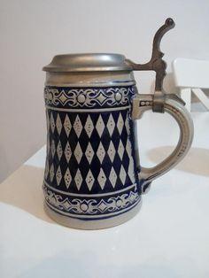 Çok eski antika seramik bira bardağı - Dekopasaj.com - dekopasaj.com