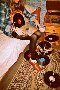plaid / grunge / vinyl ( although not on the floor / carpet )